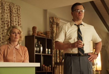 Julianne Moore and Matt Damon in Suburbicon