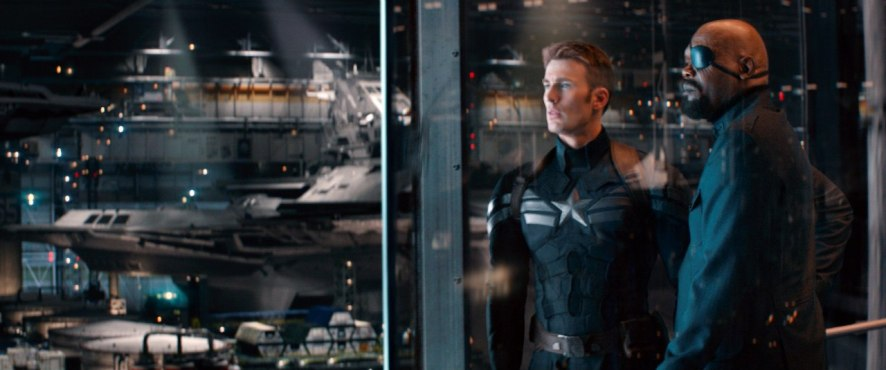 Chris Evans & Samuel L. Jackson in Captain America: The Winter Soldier