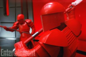 Modeled on the Emperor's ceremonial watchmen from Return of the Jedi, these crimson-armored bodyguards are more like samurai.