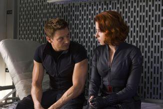 Jeremy Renner & Scarlett Johansson in The Avengers