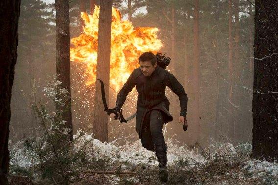 Jeremy Renner as Hawkeye in Avengers: Age of Ultron
