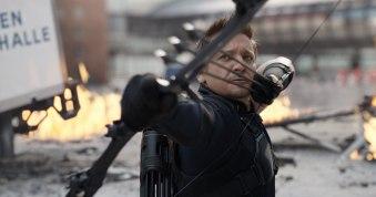 Jeremy Renner as Hawkeye in Captain America: Civil War