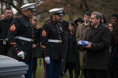 Laurence Fishburne, Bryan Cranston & Steve Carell in Last Flag Flying