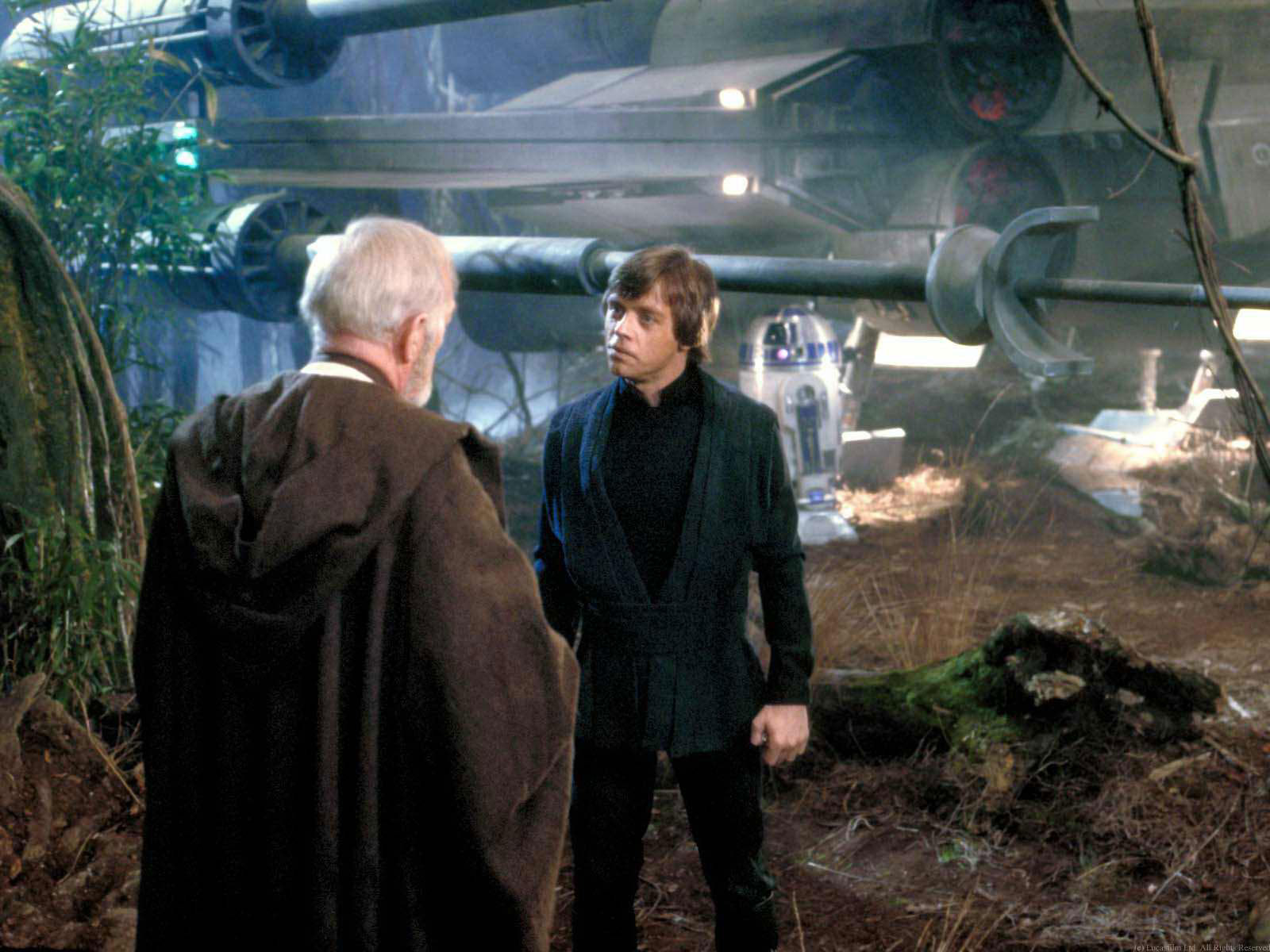 Obi-Wan's spirit encounters Luke on Dagobah in Return of the Jedi in the Star Wars sequel that I'm mentioning for SEO value of Star Wars in the Star Wars mentionings for Star Wars.