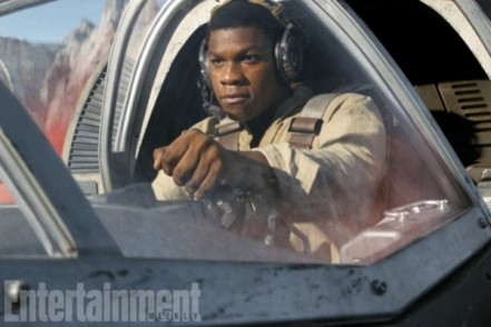 The ex-stormtrooper was not a pilot in The Force Awakens, but he picks up new skills in The Last Jedi. This morning, look for new photos in EW's feature on his covert mission with a new character: Kelly Marie Tran's Resistance mechanic Rose Tico.