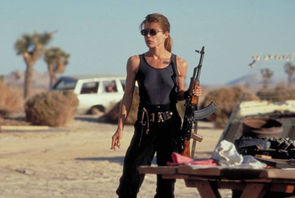 Linda Hamilton as Sarah Connor in Terminator 2: Judgement Day