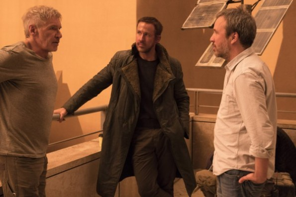 Harrison Ford, Ryan Gosling & Denis Villeneuve on set Blade Runner 2049