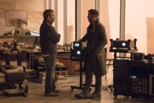 Denis Villeneuve & Ryan Gosling on set Blade Runner 2049