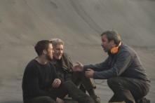 Ryan Gosling, Harrison Ford & Denis Villeneuve on set Blade Runner 2049