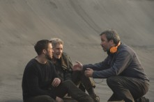 Ryan Gosling, Harrison Ford & Denis Villeneuve on set Blade Runner 2049