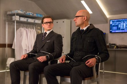 Taron Egerton & Mark Strong in Kingsman: The Golden Circle
