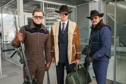 Taron Egerton, Colin Firth & Pablo Pascal in Kingsman: The Golden Circle