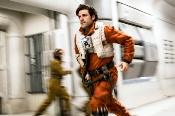 Oscar Isaac as Poe Dameron in Star Wars: The Last Jedi