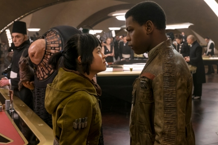 Kelly Marie Tran & John Boyega in Star Wars: The Last Jedi
