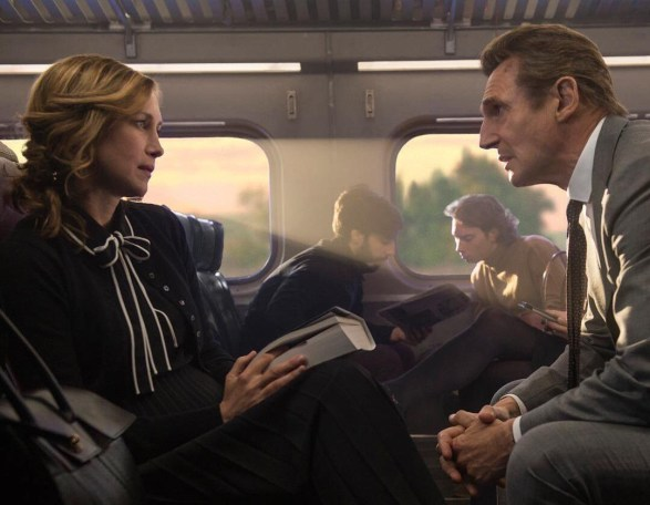 Vera Farmiga & Liam Neeson in The Commuter