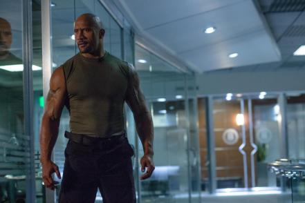 Dwayne Johnson in Furious 7