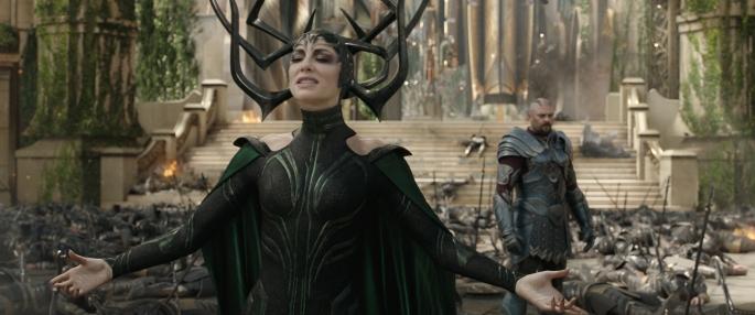 Cate Blanchett & Karl Urban in Thor: Ragnarok