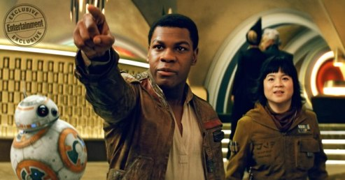 John Boyega & Kelly Marie Tran in Star Wars: The Last Jedi