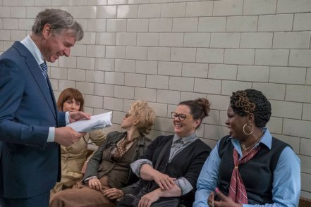 Paul Feig, Kristen Wiig, Kate McKinnon, Melissa McCarthy & Leslie Jones on set Ghostbusters