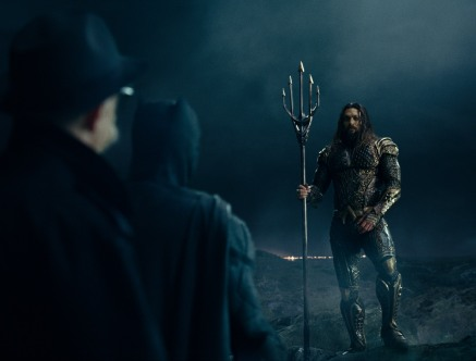 J.K. Simmons, Ben Affleck & Jason Momoa in Justice League