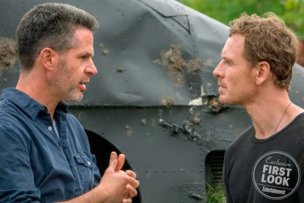 X-Men: Dark Phoenix  Director Simon Kinberg and Michael Fassbender on set