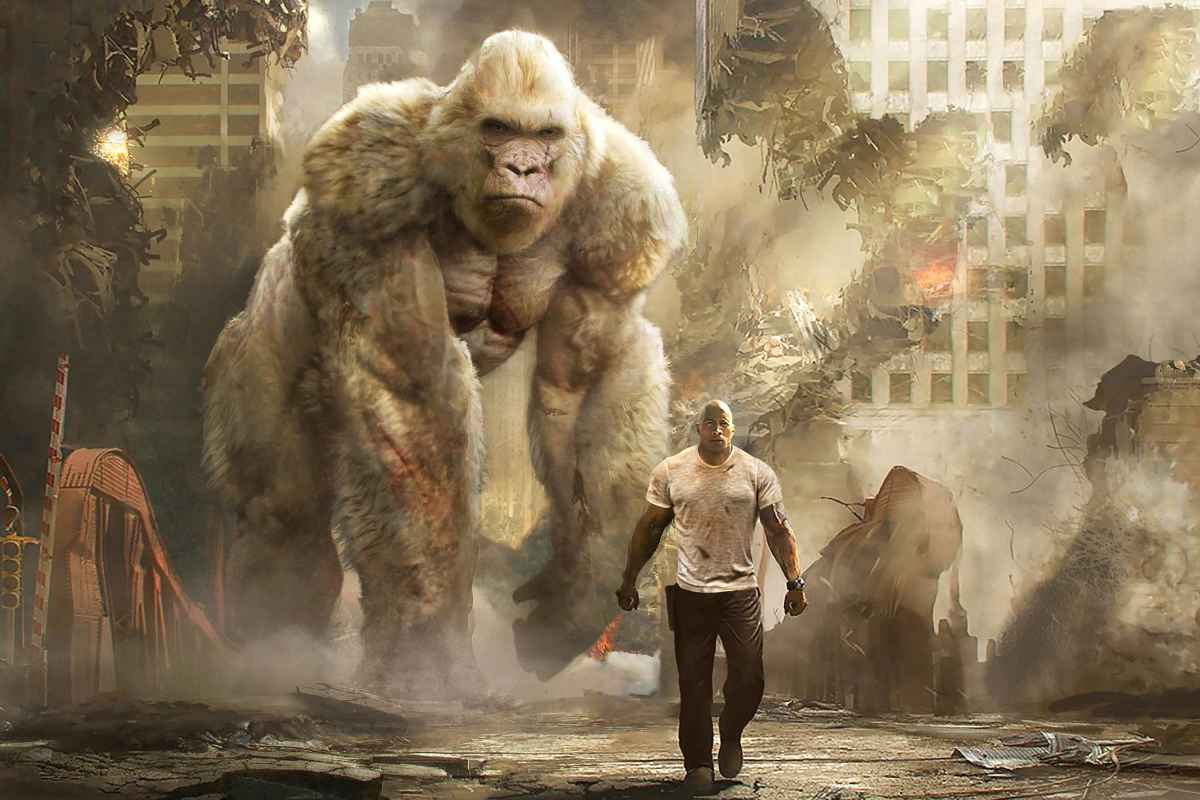 Big Meets Bigger in New Action-Packed 'Rampage' Trailer
