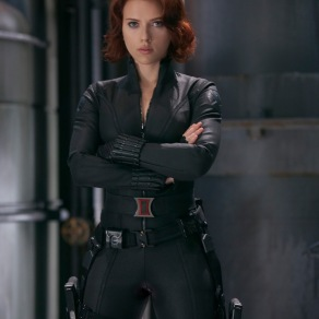 Scarlett Johansson as Black Widow in The Avengers