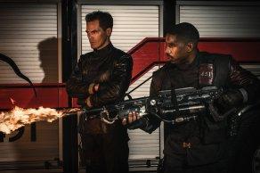 Michael Shannon & Michael B. Jordan in Fahrenheit 451