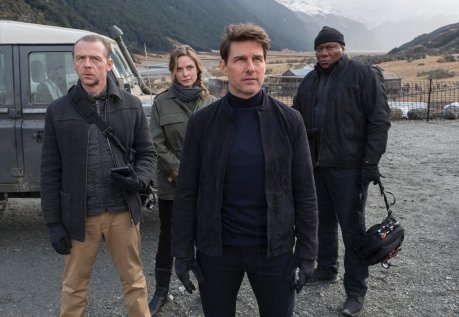 Simon Pegg, Rebecca Ferguson, Tom Cruise & Ving Rhames in Mission: Impossible - Fallout