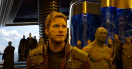 Chris Pratt & Dave Bautista in Guardians of the Galaxy Vol. 2