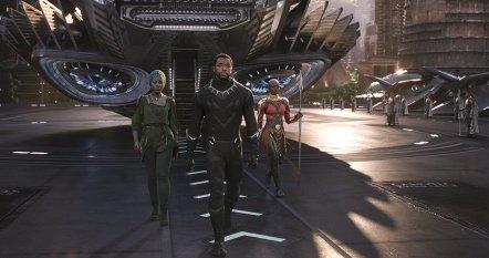 Lupita Nyong'o, Chadwick Boseman & Danai Gurira in Black Panther