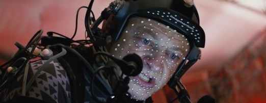 Andy Serkis on set Star Wars: The Last Jedi