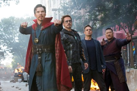 Benedict Cumberbatch, Robert Downey Jr., Mark Ruffalo & Benedict Won in Avengers: Infinity War