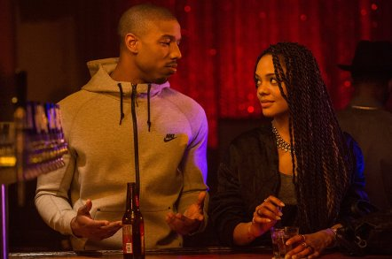 Michael B. Jordan & Tessa Thompson in Creed