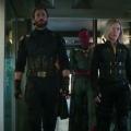 Chris Evans, Scarlett Johansson & Paul Bettany in Avengers: Infinity War