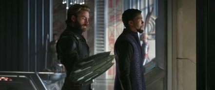 Chris Evans & Chadwick Boseman in Avengers: Infinity War