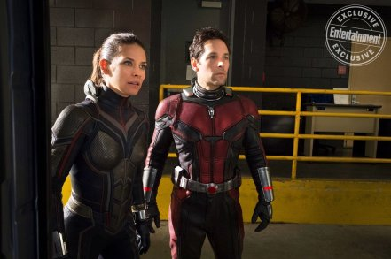 Evangeline Lilly as Hope Van Dyne & Paul Rudd as Scott Lang in Ant-Man and the Wasp