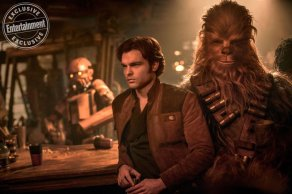 Alden Ehrenreich as Han Solo in Solo: A Star Wars Story