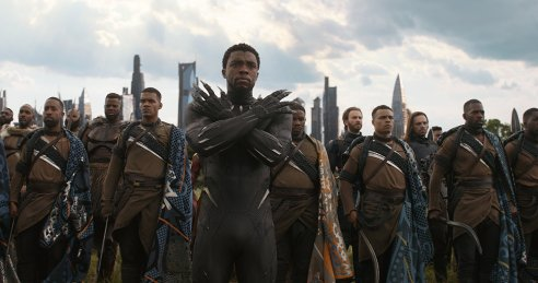 Chadwick Boseman as T'Challa/Black Panther in Avengers: Infinity War