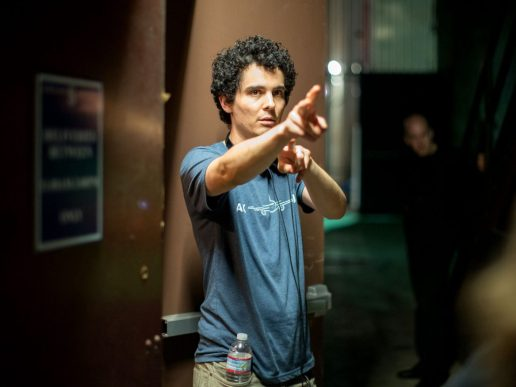 Damien Chazelle on set La La Land