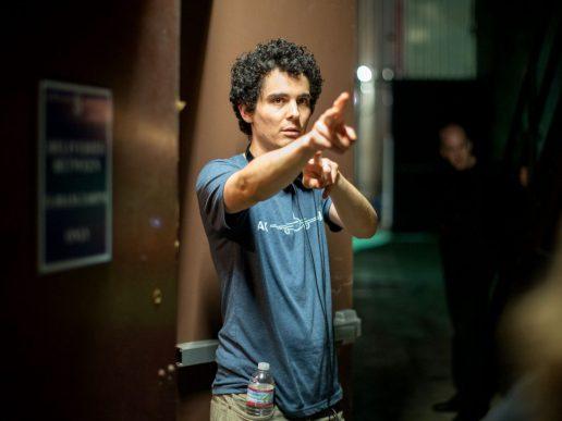 Damien Chazelle on set La La Land