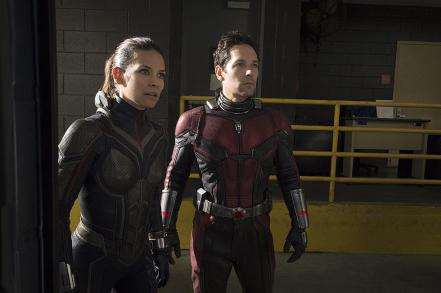 Evangeline Lilly & Paul Rudd in Ant-Man and the Wasp