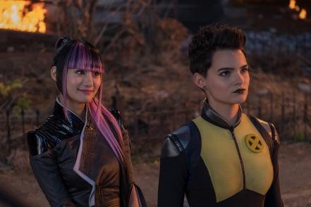 Shioli Kutsuna & Brianna Hildebrand in Deadpool 2
