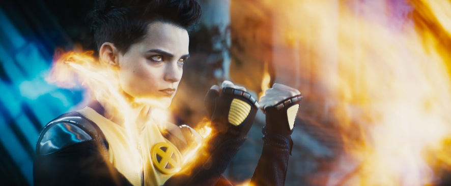 Brianna Hildebrand as Negasonic Teenage Warhead in Deadpool 2
