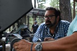 James Mangold on set Logan
