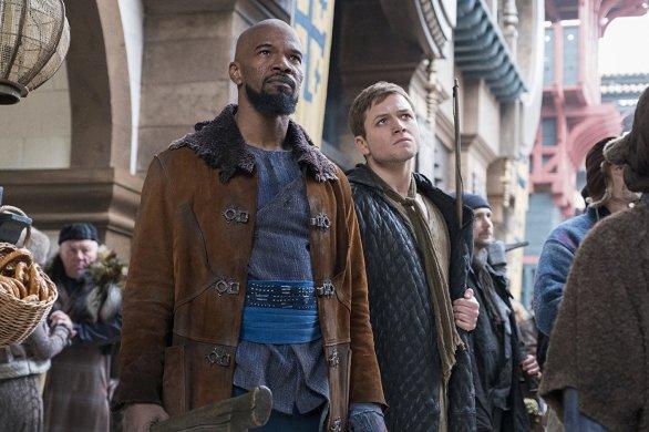 Jamie Foxx & Taron Egerton in Robin Hood
