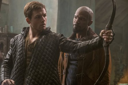 Taron Egerton & Jamie Foxx in Robin Hood