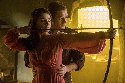 Eve Hewson & Taron Egerton in Robin Hood