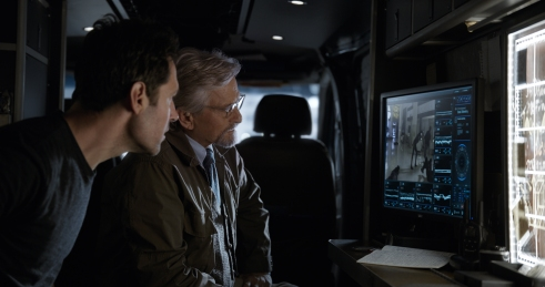Marvel Studios ANT-MAN AND THE WASP L to R: Ant-Man/Scott Lang (Paul Rudd) and Hank Pym (Michael Douglas) Photo: Film Frame ©Marvel Studios 2018