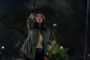 Olivia Munn & Jacob Tremblay in The Predator